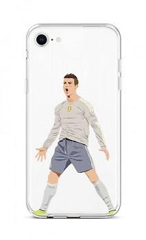 Zadní silikonový kryt na iPhone SE 2020 Fotbalista