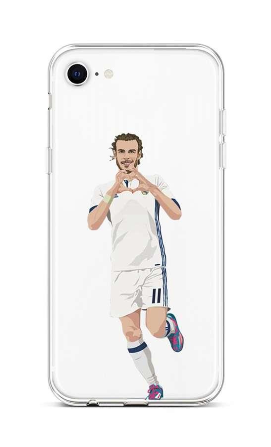 Zadní silikonový kryt na iPhone SE 2020 Fotbalista 2