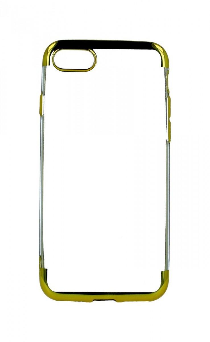Zadní silikonový kryt na iPhone SE 2020 Frame zlatý