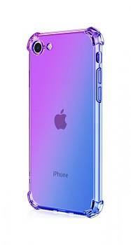 Zadní silikonový kryt na iPhone SE 2020 Shock duhový fialovo-modrý