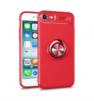 Zadní silikonový kryt na iPhone SE 2020 červený s červeným prstenem