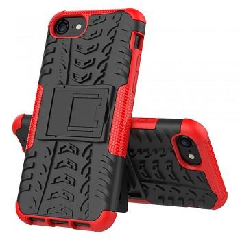 Ultra odolný zadní kryt na iPhone SE 2020 červený