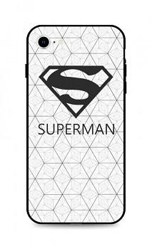 Zadní 3D silikonový kryt na iPhone SE 2020 Bílý Superman