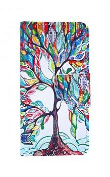 Knížkové pouzdro na iPhone SE 2020 Barevný strom