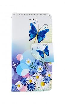 Knížkové pouzdro na iPhone SE 2020 Bílé s motýlkem