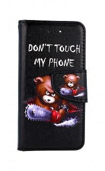 Knížkové pouzdro na iPhone SE 2020 Don't Touch méďa