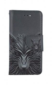 Knížkové pouzdro na iPhone SE 2020 Vlk