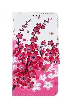 Knížkové pouzdro na iPhone 11 Kytičky textil