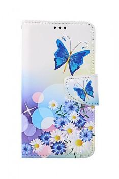Knížkové pouzdro na iPhone 11 Bílé s motýlkem
