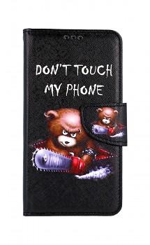 Knížkové pouzdro na iPhone 11 Don't Touch méďa