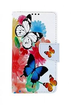 Knížkové pouzdro na iPhone 11 Barevné s motýlky
