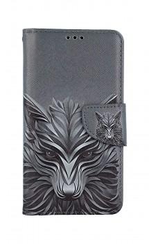 Knížkové pouzdro na iPhone 11 Vlk