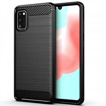 Zadní silikonový kryt na Samsung A41 černý