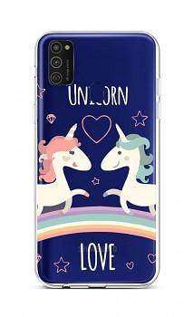 Zadní silikonový kryt na Samsung M21 Unicorn Love