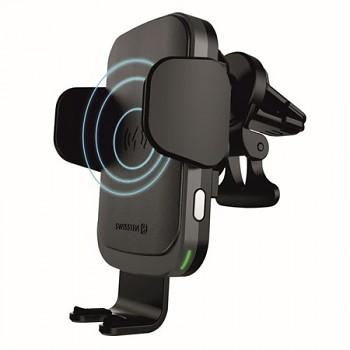 Držák na mobil s funkcí bezdrátového nabíjení Swissten W2-AV5 černý