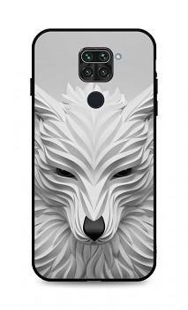 Zadní pevný kryt LUXURY na Xiaomi Redmi Note 9 Bílý vlk