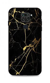 Zadní pevný kryt LUXURY na Xiaomi Redmi Note 9 Marble černo-zlatý