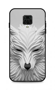 Zadní pevný kryt LUXURY na Xiaomi Redmi Note 9 Pro Bílý vlk