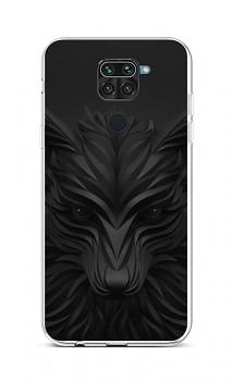 Zadní silikonový kryt na Xiaomi Redmi Note 9 Černý vlk