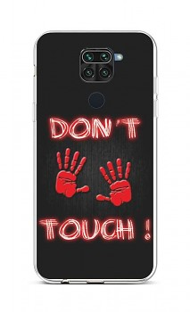 Zadní silikonový kryt na Xiaomi Redmi Note 9 Don't Touch Red