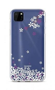 Zadní silikonový kryt na Huawei Y5p Květy sakury