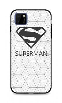 Zadní 3D silikonový kryt na Huawei Y5p Bílý Superman