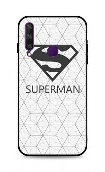Zadní 3D silikonový kryt na Huawei Y6p Bílý Superman