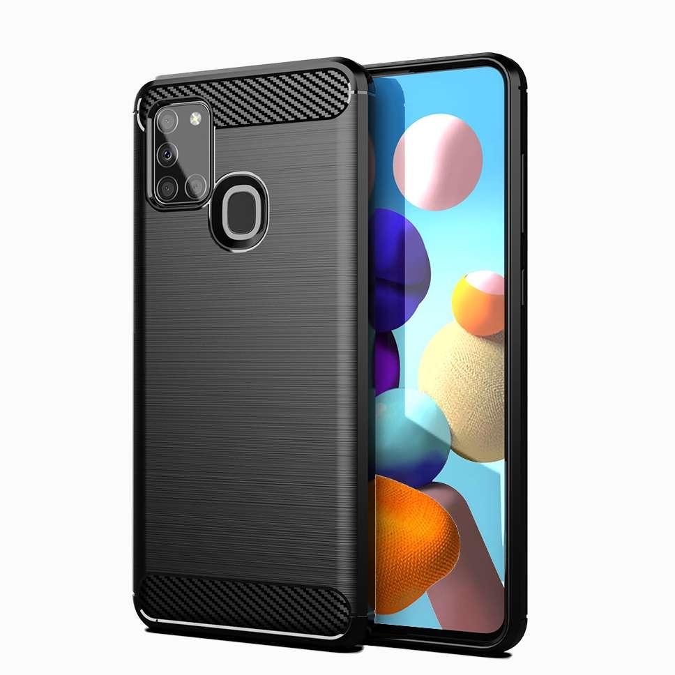 Zadní silikonový kryt na Samsung A21s černý