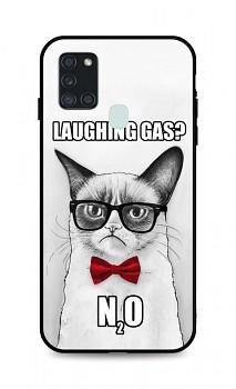 Zadní 3D silikonový kryt na Samsung A21s Grumpy Cat