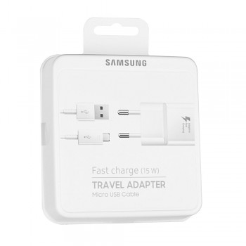 Originální rychlonabíječka Samsung EP-TA20EWE + micro USB bílá 2A (EU Blister)