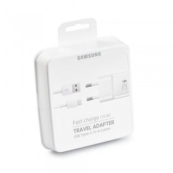 Originální rychlonabíječka Samsung EP-TA20EWE včetně USB-C datového kabelu bílá 2A 15W