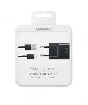 Originální rychlonabíječka Samsung EP-TA20EBE včetně USB-C datového kabelu černá 2A 15W