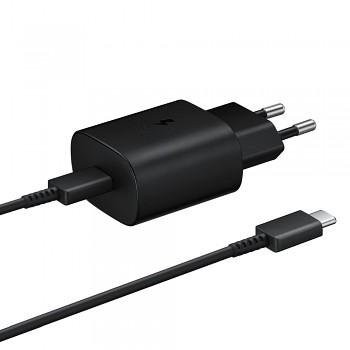 Originální rychlonabíječka Samsung EP-TA800EBE včetně datového kabelu USB-C EP-DA705BBE černá 25W
