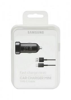 Originální rychlonabíječka do auta Samsung EP-LN930CBE včetně USB-C datového kabelu černá 18W