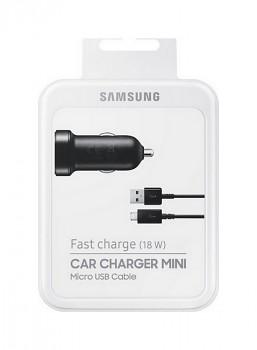 Originální rychlonabíječka do auta Samsung EP-LN930CBE včetně datového kabelu microUSB černá 18W