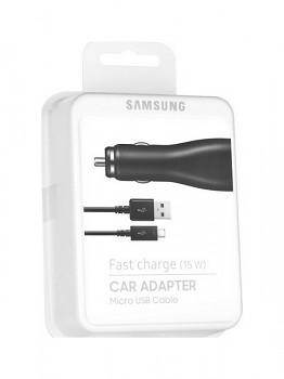 Originální rychlonabíječka do auta Samsung EP-LN915CBE včetně microUSB originálního kabelu černá 15W