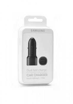 Originální autodobíječ Samsung EP-L1100 Dual Fast Charge 2A černý (EU Blister)