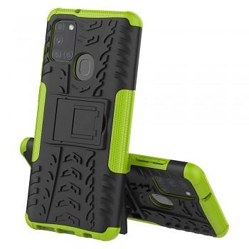 Ultra odolný zadní kryt na Samsung A21s zelený