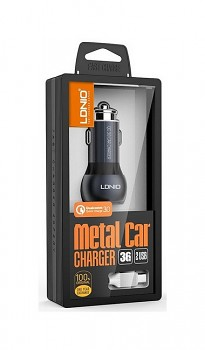 Rychlonabíječka do auta LDNIO micro USB 3.0A Dual šedá