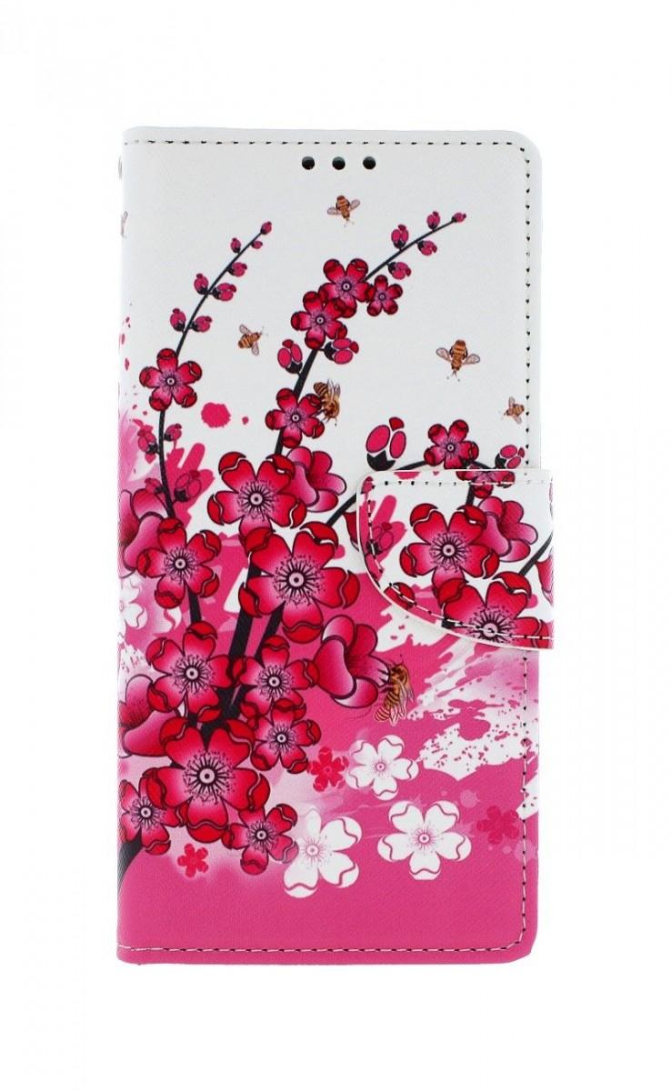 Knížkové pouzdro na Xiaomi Redmi Note 9 Kytičky textil
