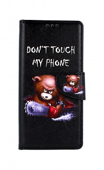 Knížkové pouzdro na Xiaomi Redmi Note 9 Don't Touch méďa