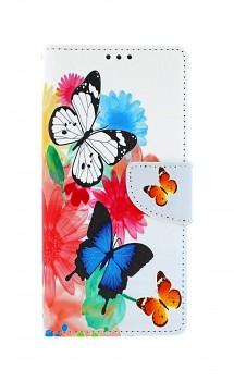 Knížkové pouzdro na Xiaomi Redmi Note 9 Barevné s motýlky