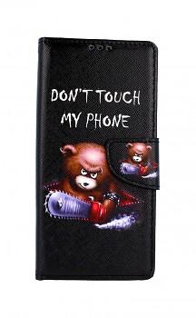 Knížkové pouzdro na Xiaomi Redmi Note 9 Pro Don't Touch méďa