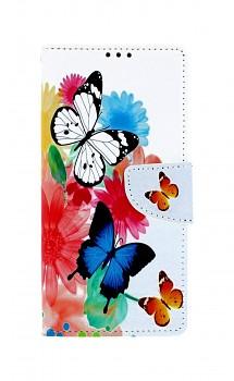 Knížkové pouzdro na Xiaomi Redmi Note 9 Pro Barevné s motýlky