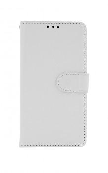 Knížkové pouzdro na Huawei Y5p bílé s přezkou