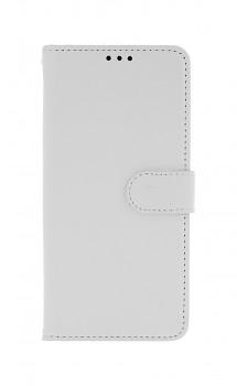 Knížkové pouzdro na Huawei Y6p bílé s přezkou