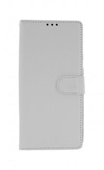 Knížkové pouzdro na Samsung A21s bílé s přezkou