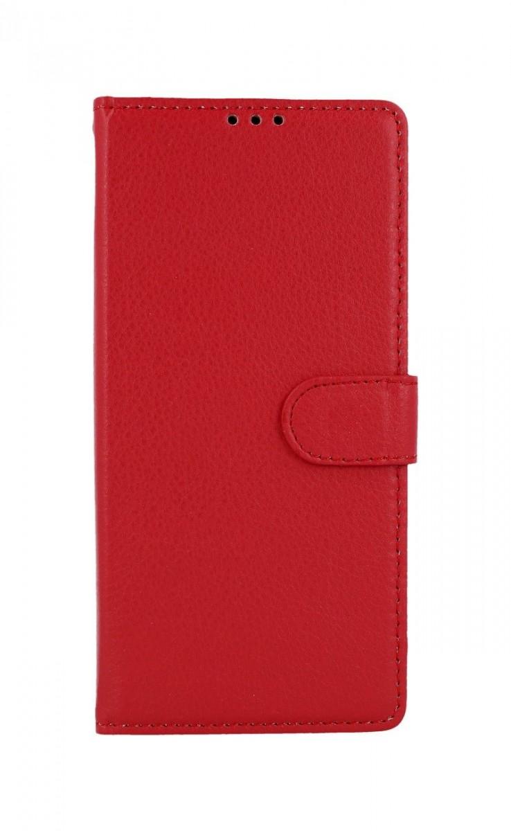 Knížkové pouzdro na Samsung A21s červené s přezkou