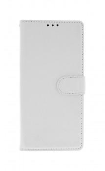 Knížkové pouzdro na Xiaomi Redmi Note 9 bílé s přezkou