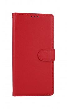 Knížkové pouzdro na Xiaomi Redmi Note 9 červené s přezkou